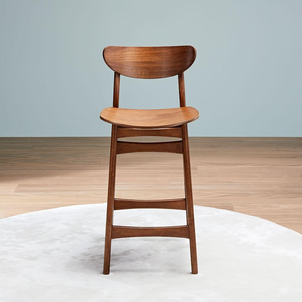 Admirable Classic Cafe Walnut Counter Stools West Elm United Kingdom Short Links Chair Design For Home Short Linksinfo