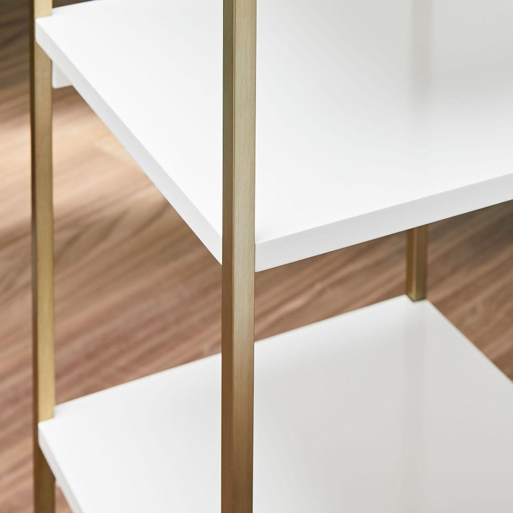 Zane Narrow Bookshelf - White