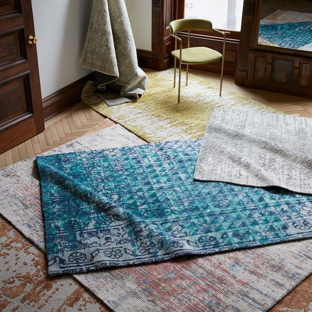 Foil Diamonds Distressed Rug