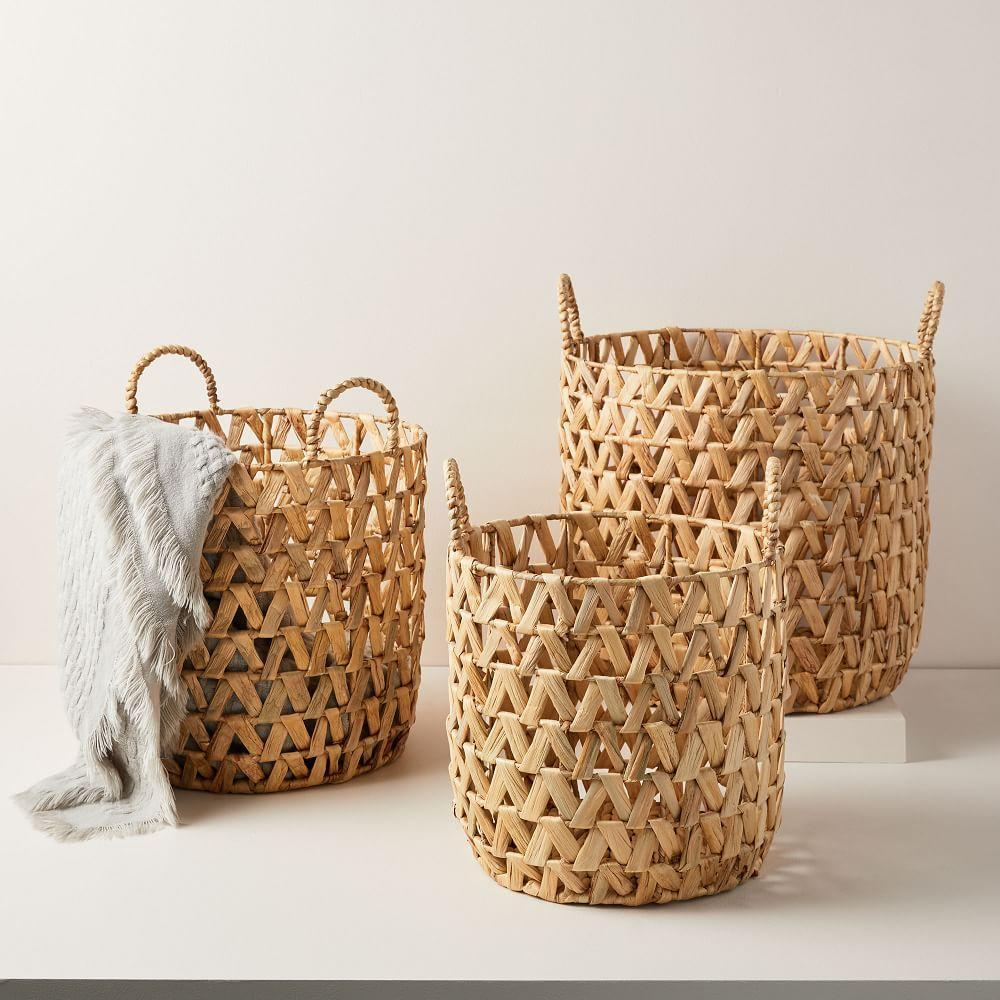 Open Weave Zigzag Baskets