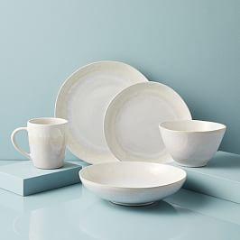 Reactive Glaze Dinnerware Set - White