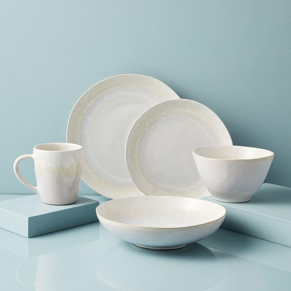 Reactive Glaze Dinnerware Set - White