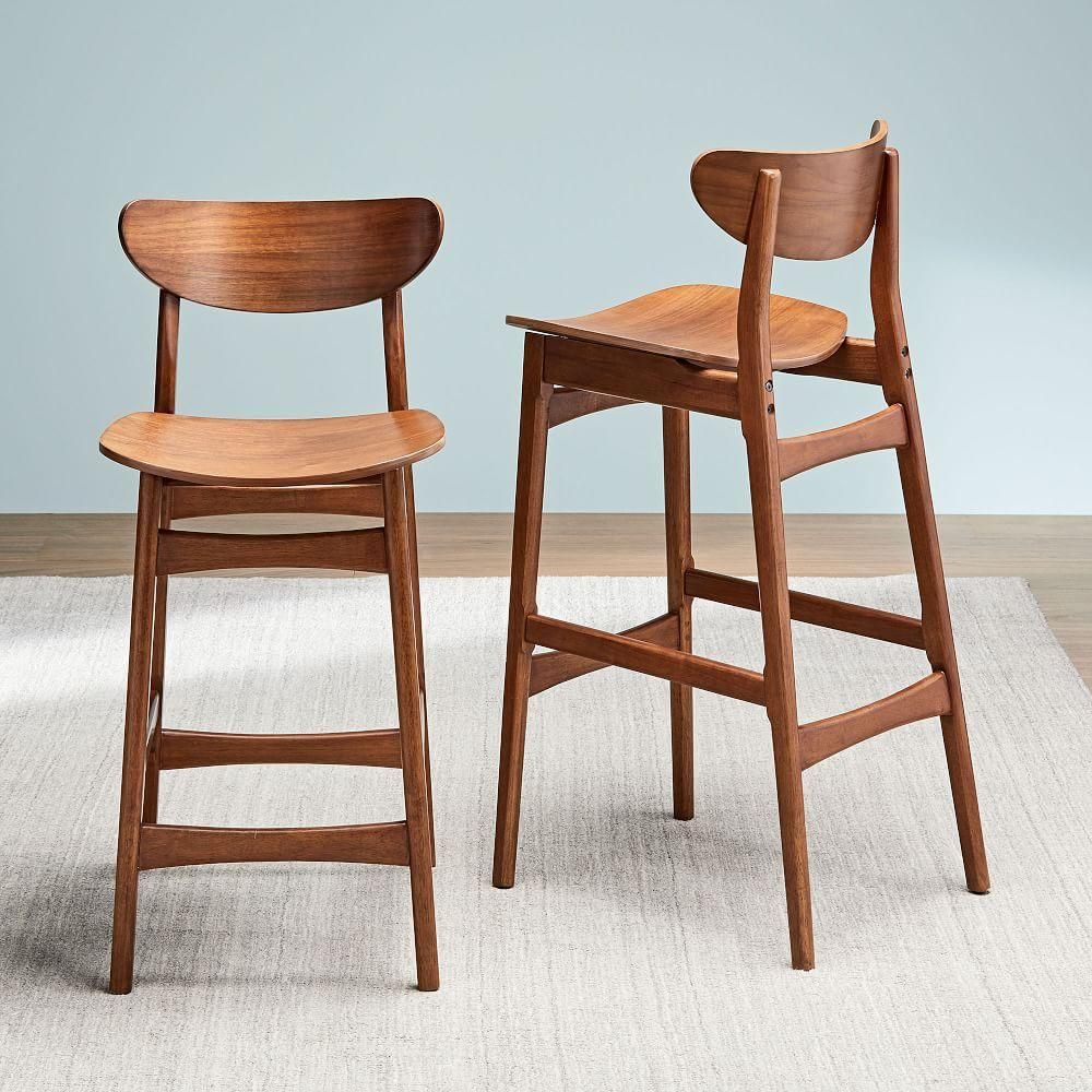 Incredible Classic Cafe Walnut Counter Stools West Elm United Kingdom Caraccident5 Cool Chair Designs And Ideas Caraccident5Info