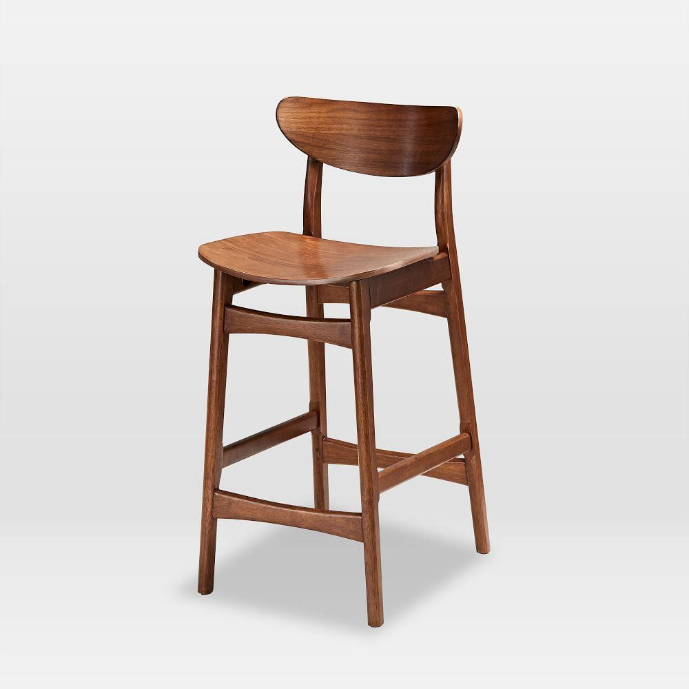 Classic Caf 233 Walnut Counter Stools West Elm United Kingdom