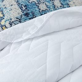 Organic Deco Bedspread + Pillowcases - White