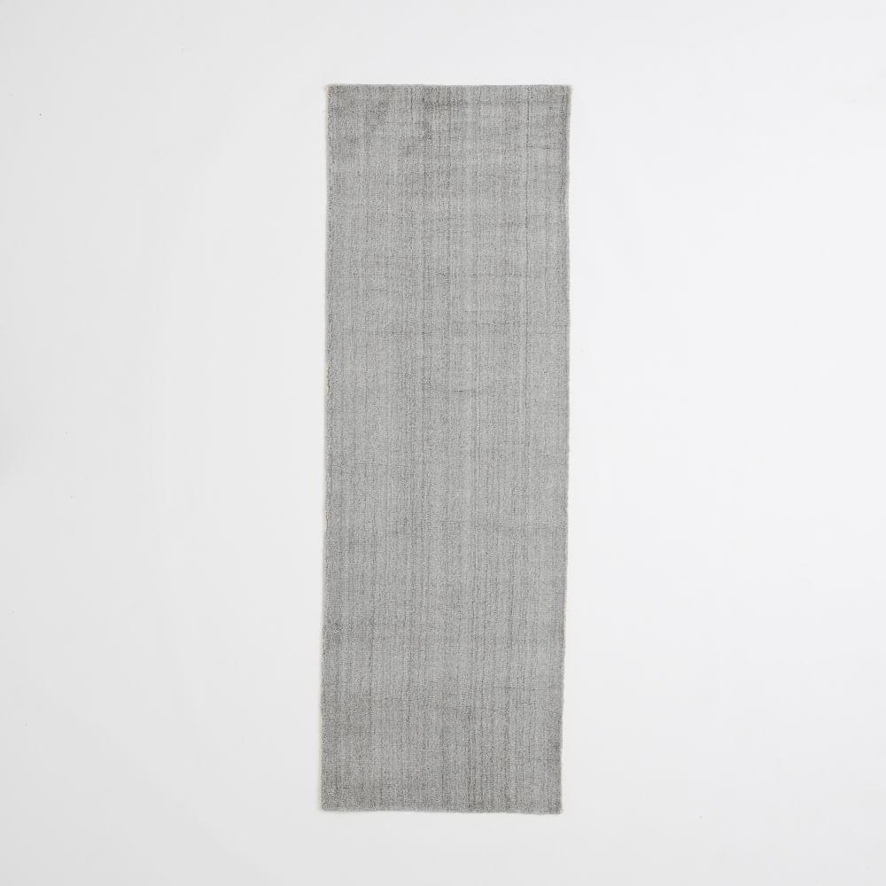 Hand-Loomed Shine Rug- Grey