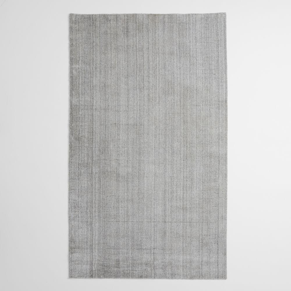 Hand-Loomed Shine Rug- Grey