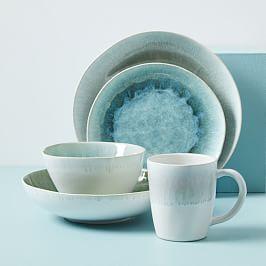 Reactive Glaze Dinnerware Set - Dusty Mint