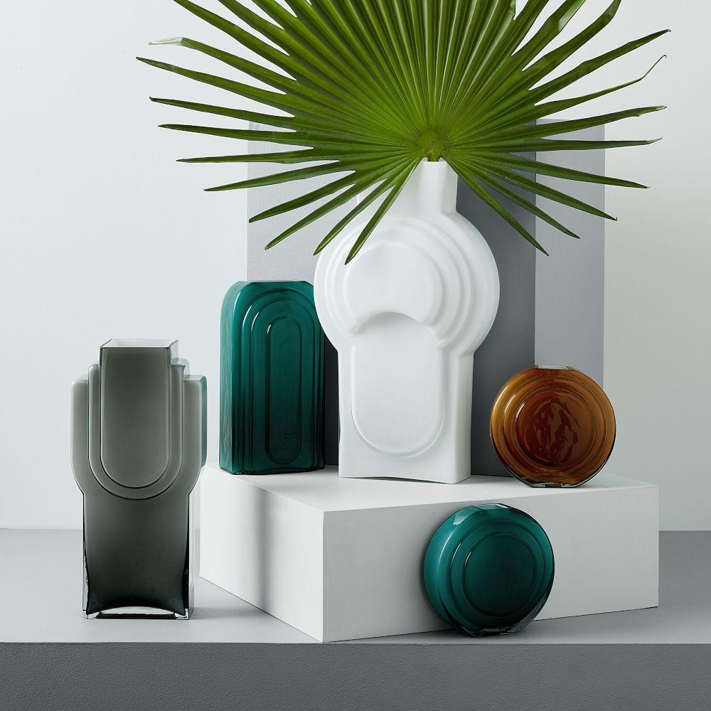 Retro Encased Glass Vases