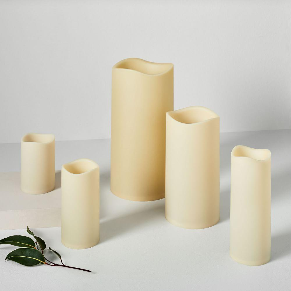 Indoor/Outdoor Flickering Flameless Pillar Candles