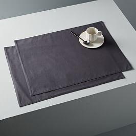 Organic Washed Cotton Placemat Set (Set of 2)