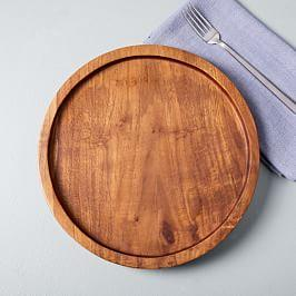 Edge Wood Serving Platters (Set of 2)