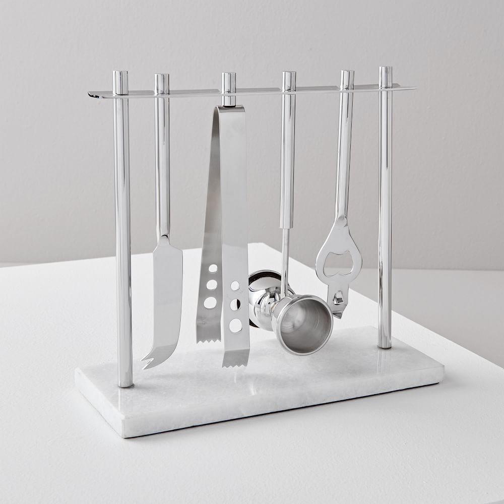 Deco Barware Collection - Nickel + Marble