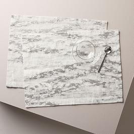 Bark Textured Jacquard Placemat Set (Set of 2)