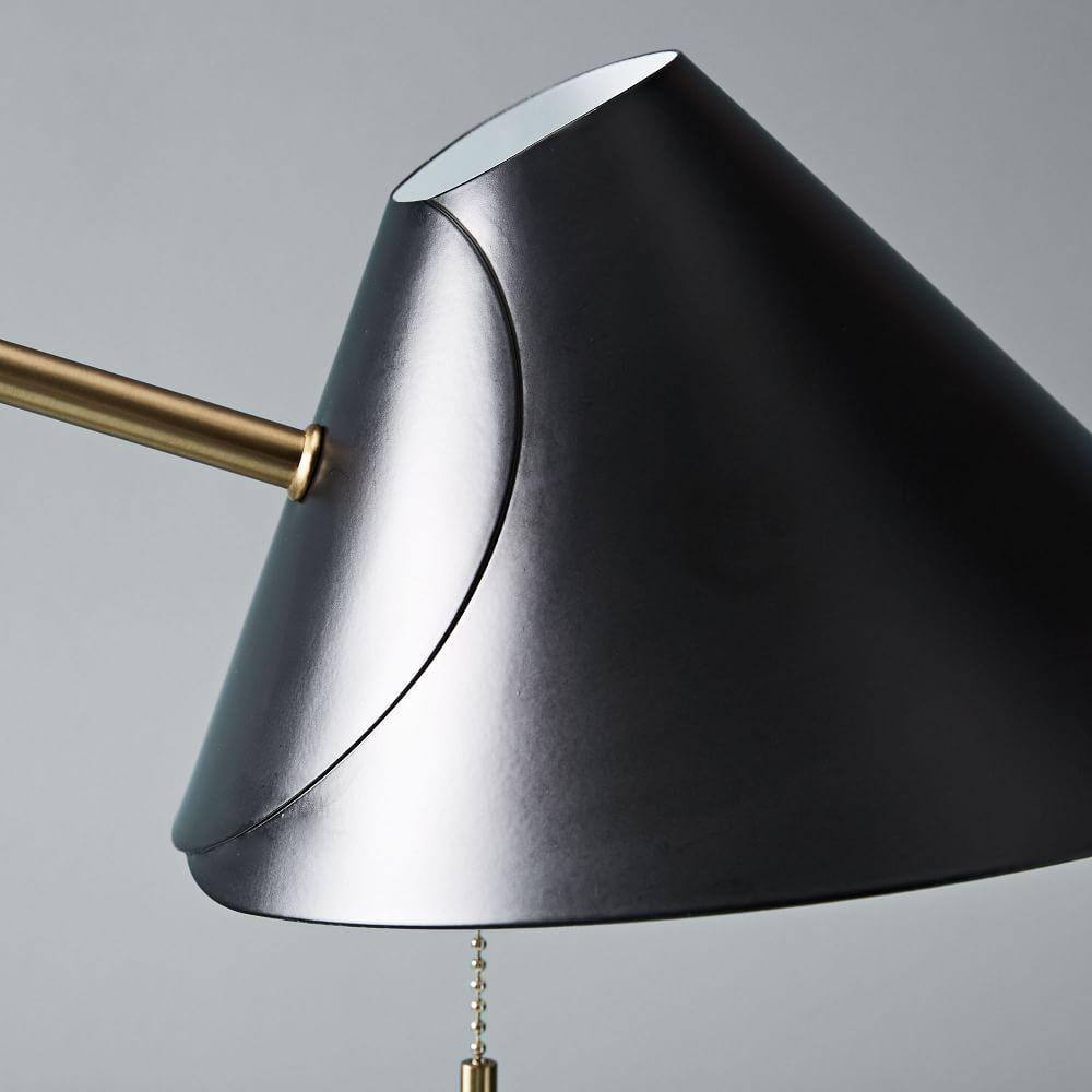 Mid-Century Task Table Lamp + USB - Black