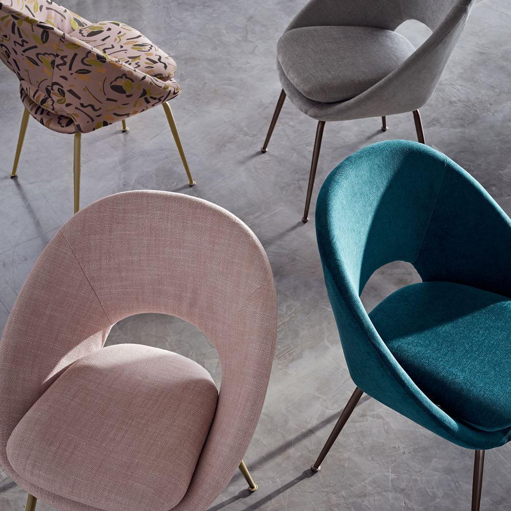 Orb Velvet Dining Chair - Peacock