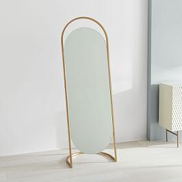 Folded Ellipse Standing Mirror