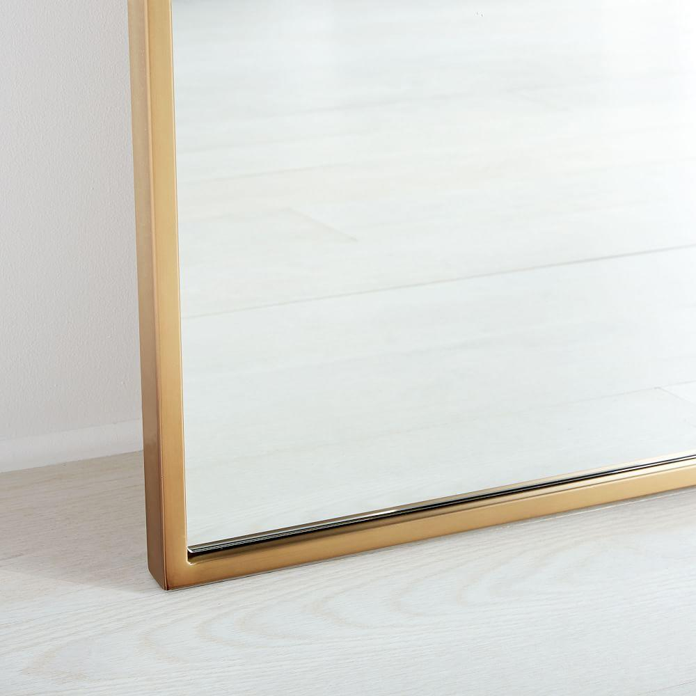 Metal Frame 198 cm Floor Mirror - Antique Brass