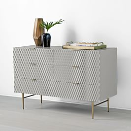 Audrey 6-Drawer Chest - Mist Grey