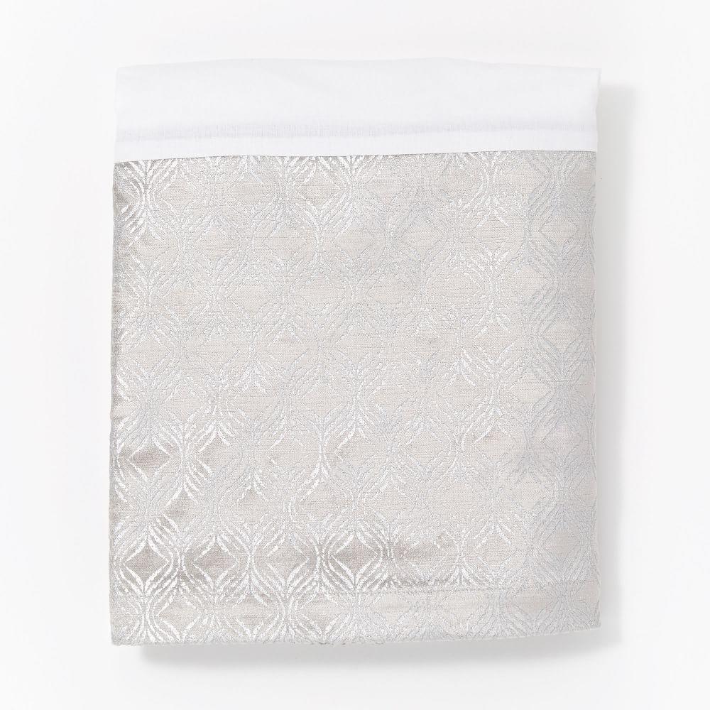 Metallic Cot Skirt