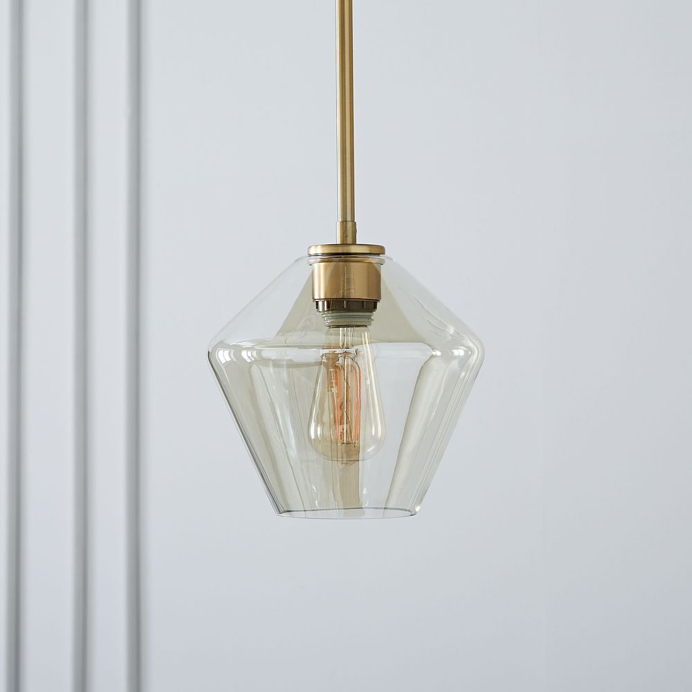 Sculptural Glass Geo Ceiling Lamps - Small (Champagne)