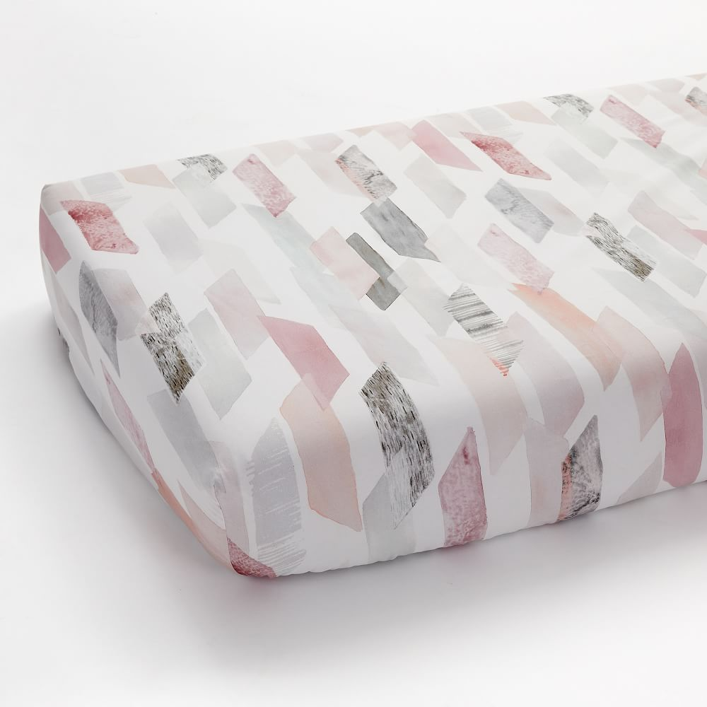 Organic Crystal Geo Crib Fitted Sheet