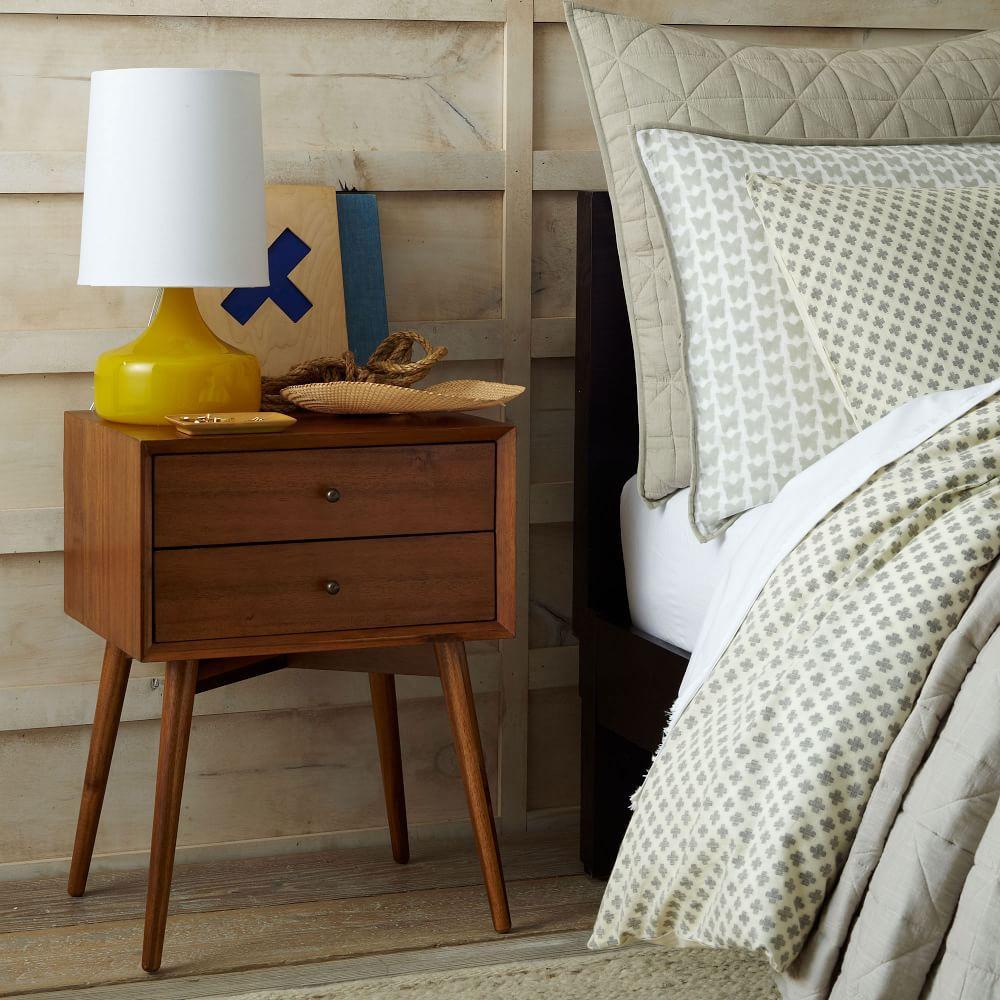 Mid Century Bedside Table Acorn West Elm UK
