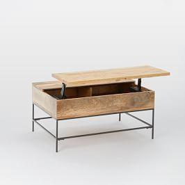 Terrific Industrial Storage Pop Up Coffee Table Small 91 Cm Pdpeps Interior Chair Design Pdpepsorg