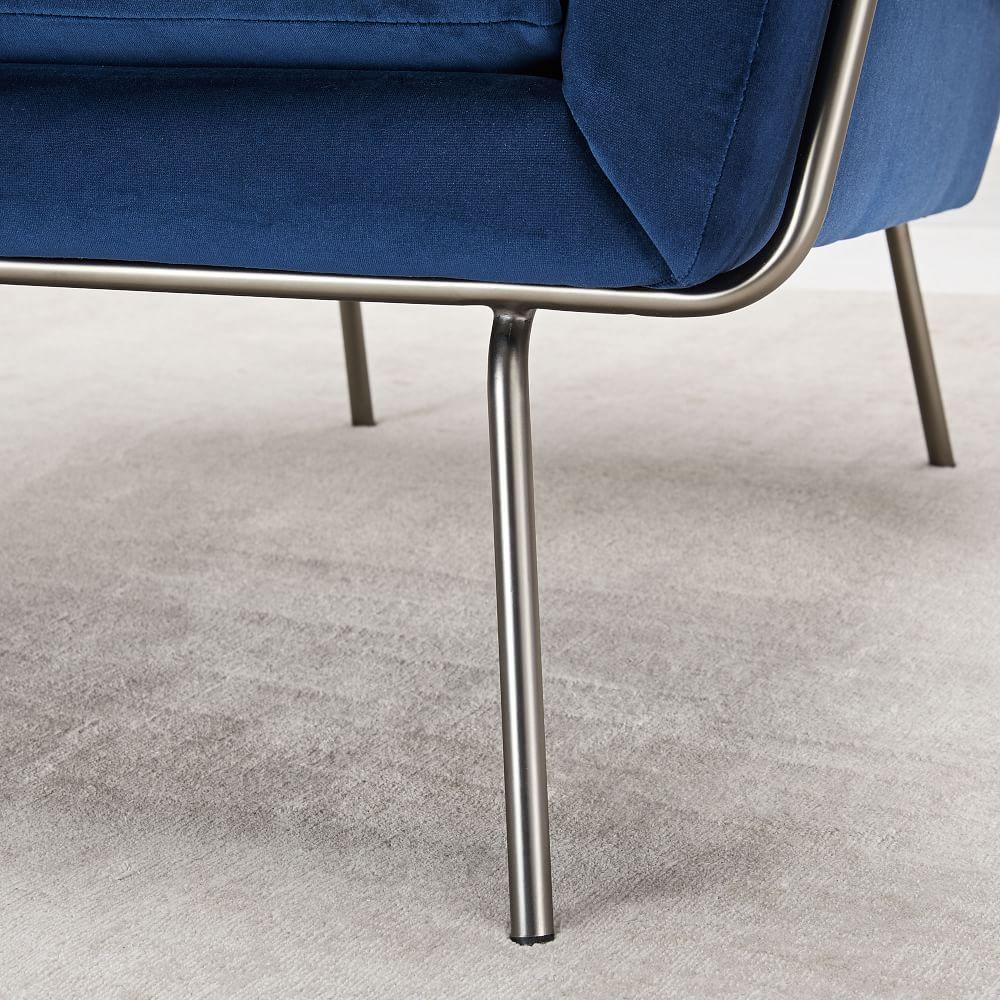 Lucas Wire Base Chair -Ink Blue