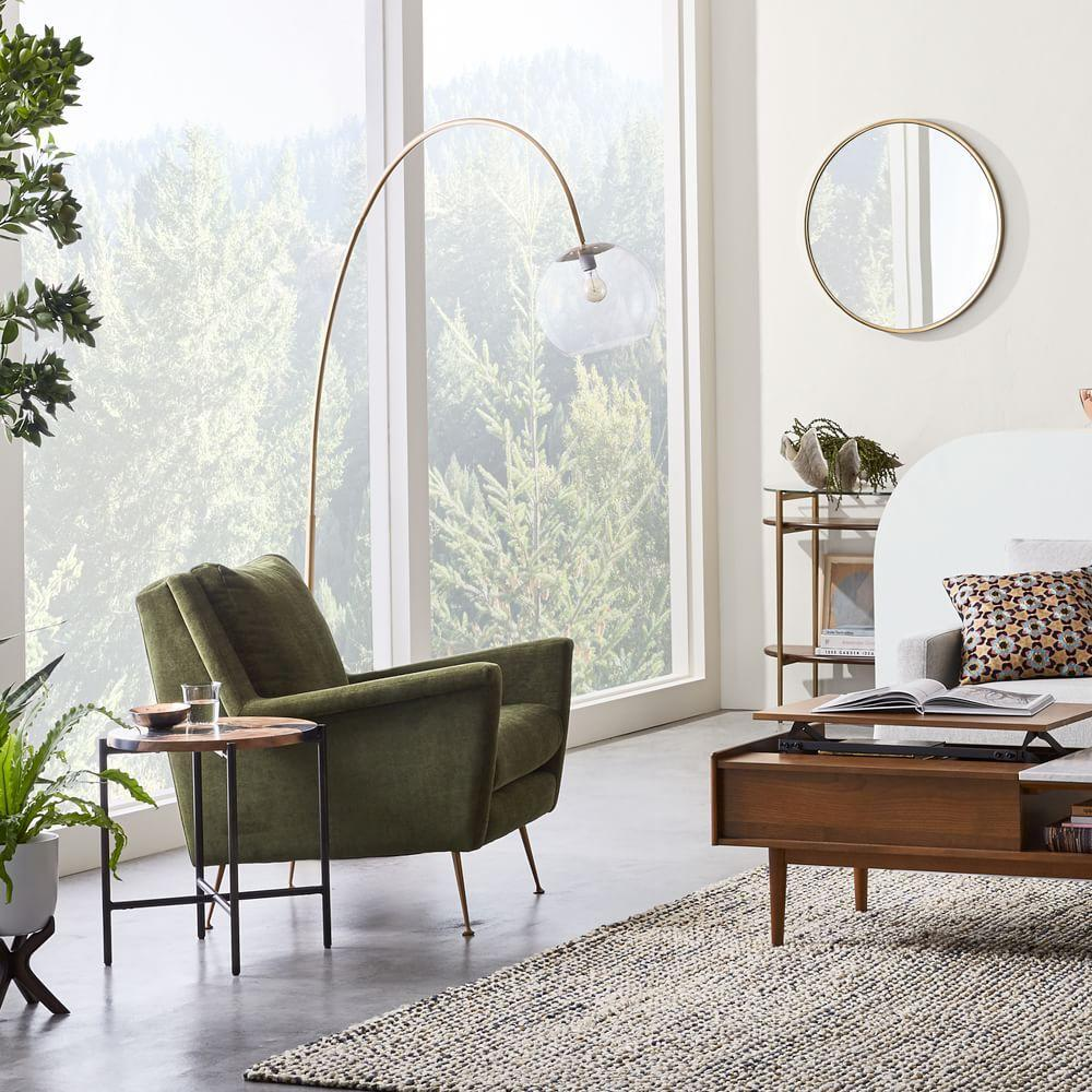 Carlo Mid-Century Chair - Olive