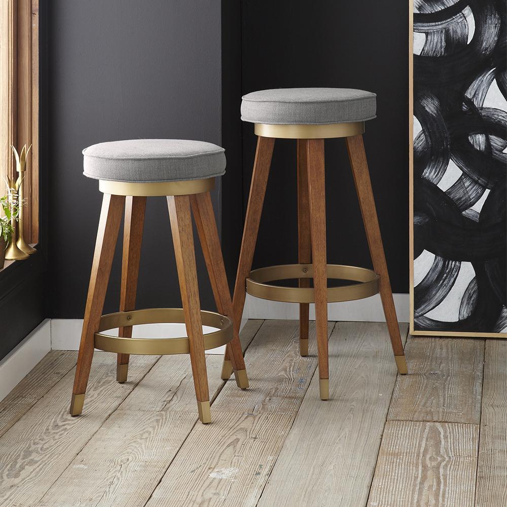 Mid century swivel bar counter stools