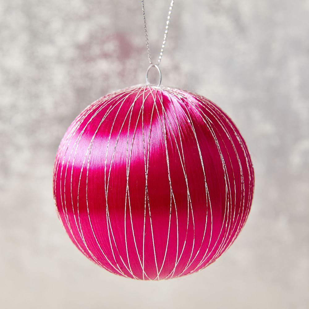 Vintage Satin Ball Ornament