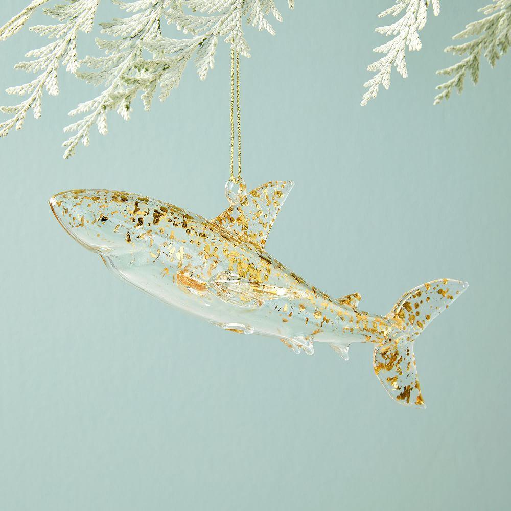 Glass Shark Ornament