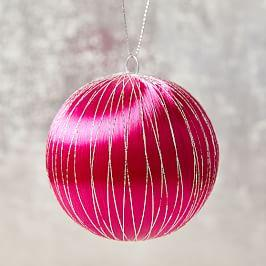 Vintage Satin Ball Ornament