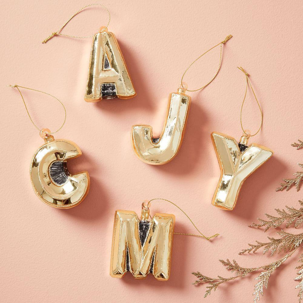 Mercury Glass Letter Ornaments