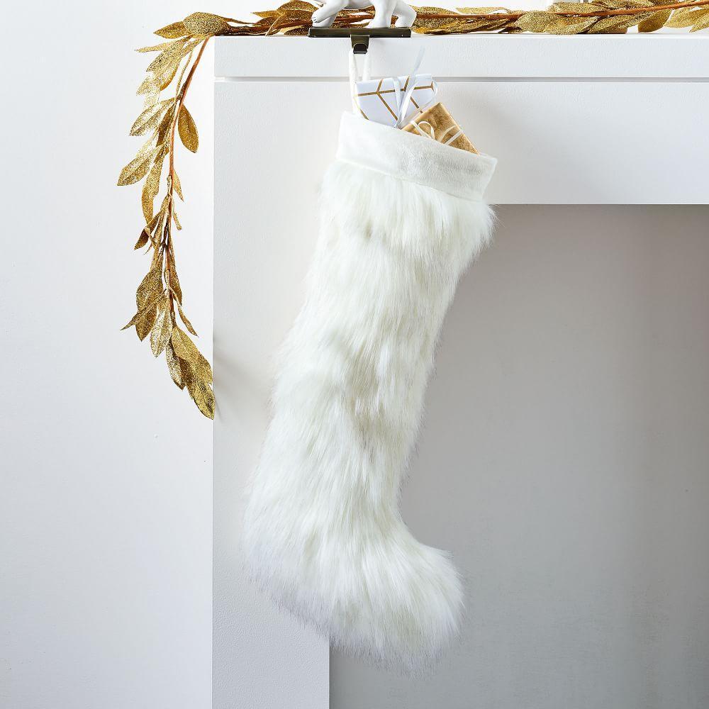 Brushed Tips Faux Fur Stocking