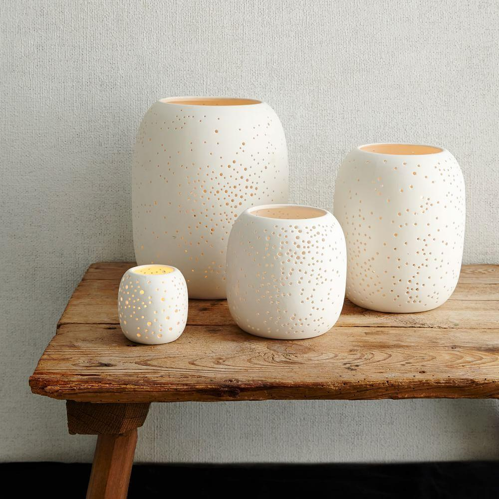 Pierced Porcelain Hurricanes - Constellation
