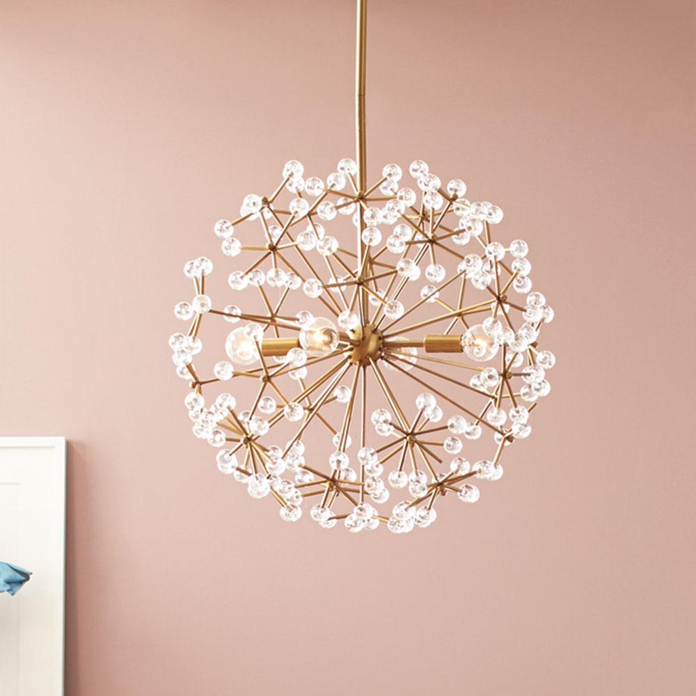 floral burst chandelier west elm uk