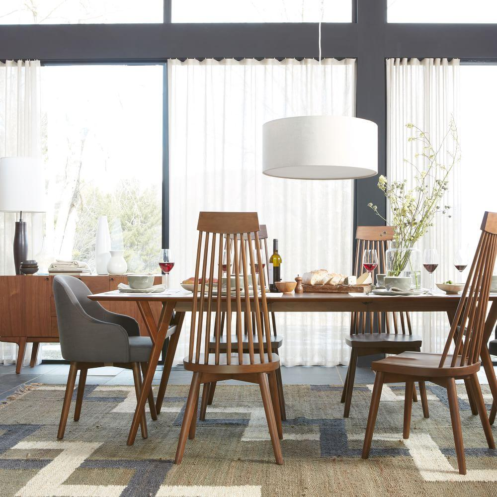 Mid Century Dining Room: Mid-Century Expandable Dining Table