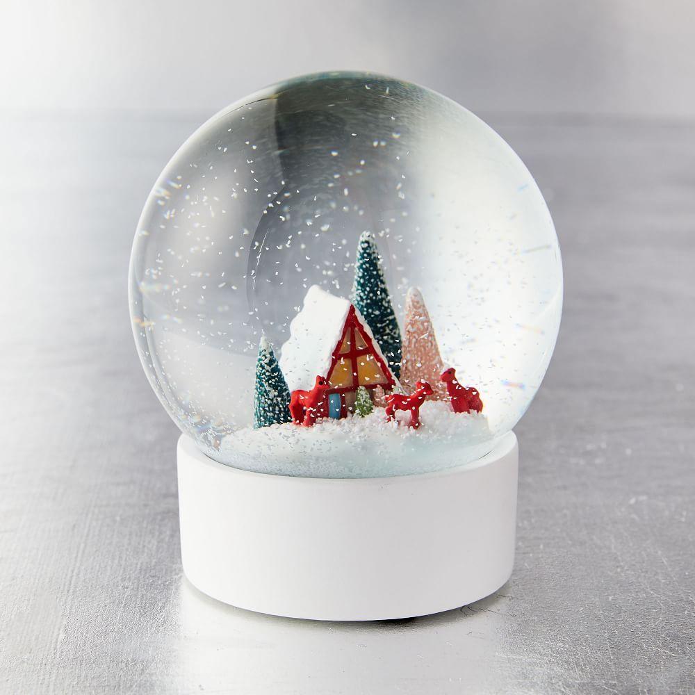 Vintage Snow Globe - Deer   west elm UK