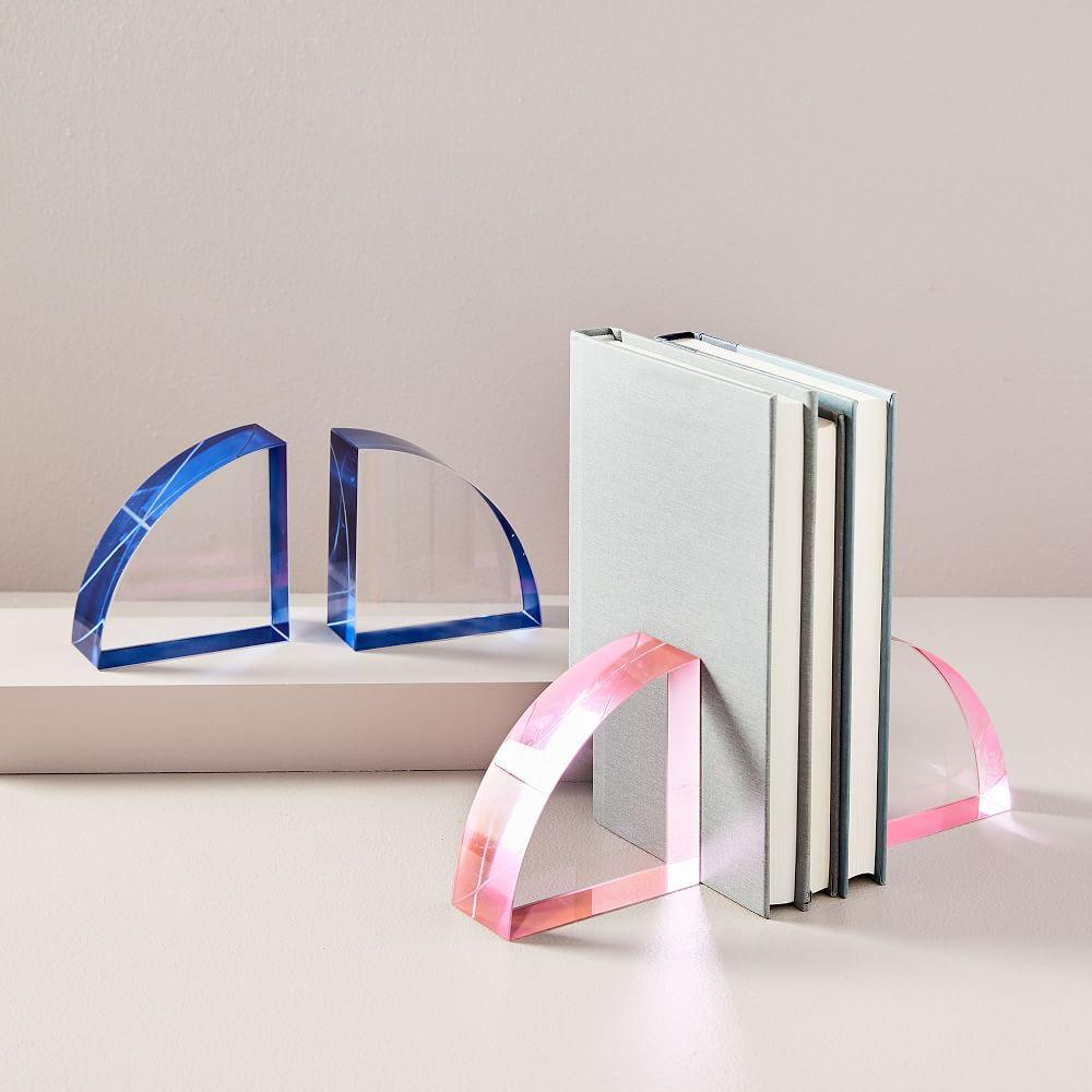 Colour Pop Crystal Bookends (Set of 2)
