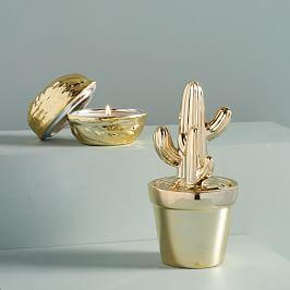 Novelty Lidded Candles (Cactus)