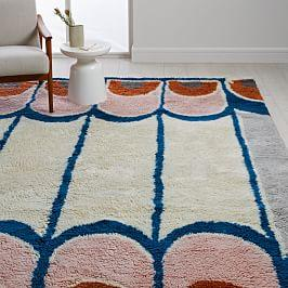 Grand Looped Border Shag Rug