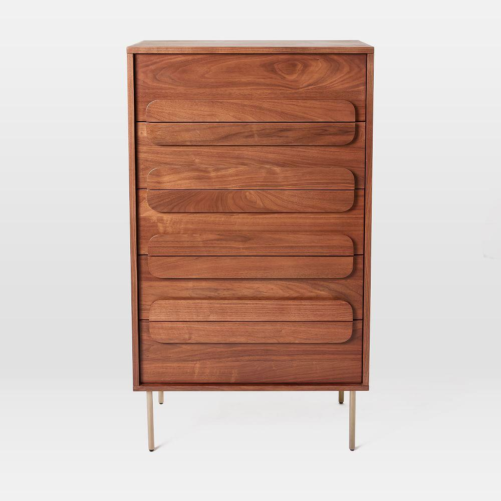 Gemini 5-Drawer Chest - Walnut