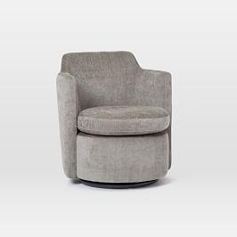 Adeline Swivel Chair - Metal (Distressed Velvet)