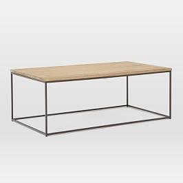 Streamline Coffee Table (112 cm) - Whitewashed Mango Wood