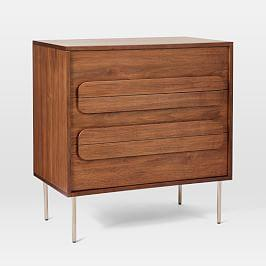 Gemini 3-Drawer Chest - Walnut