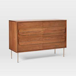 Gemini 6-Drawer Chest - Walnut