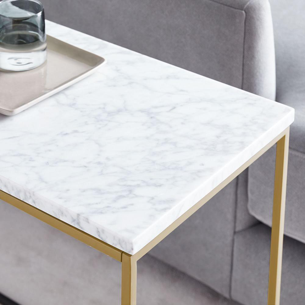 Streamline Side Table (71 cm) - Marble