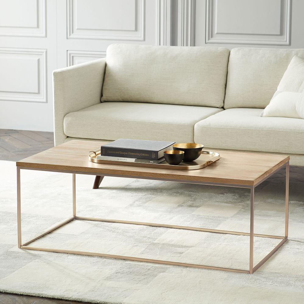 Streamline Coffee Table (112 cm) - Whitewashed Mango Wood